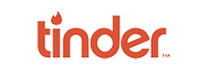 Logo de l'appli libertine Tinder