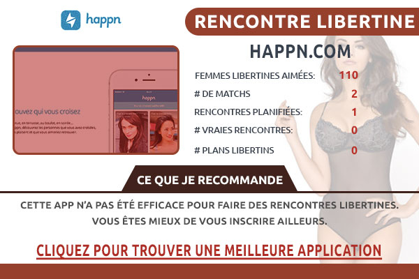 Site pour libertin Happn France