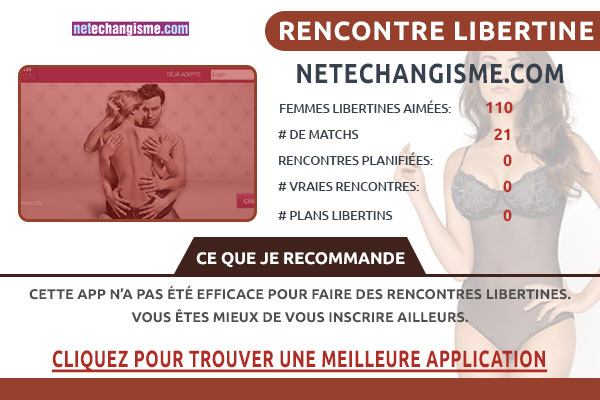 Site pour libertin Netechangisme France