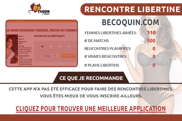 Site pour libertin Becoquin France