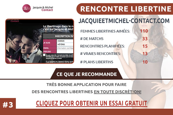 Site pour libertin JacquieEtMichel-Contact France